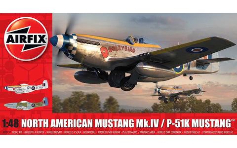 Airfix North American Mustang Mk.IV/P-51K Mustang 1:48 Scale Model Plane A05137