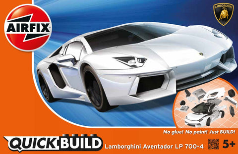 Airfix QUICK BUILD White Lamborghini Aventador LP 700-4 Plastic Model Kit J6019