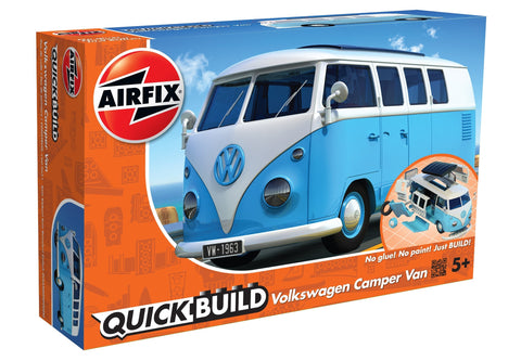 Airfix QUICK BUILD Light Blue Volkswagen VW Camper Van Plastic Model Kit J6024