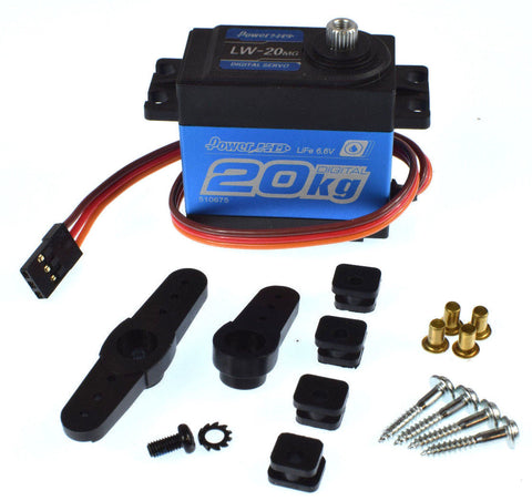 Power HD LW-20MG Standard Waterproof Digital High Torque Servo - 1/10 - 1/8 Steering Servo