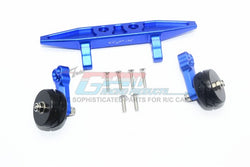 GPM Racing Traxxas Rustler 4X4 Blue Aluminum Adjustable Wheelie Bar RUS4040R-B