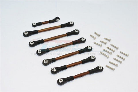 GPM Racing Traxxas Slash 4x4 LCG Spring Steel 7pc Tie Rod Set SSLA160LCG-OC-BEBK