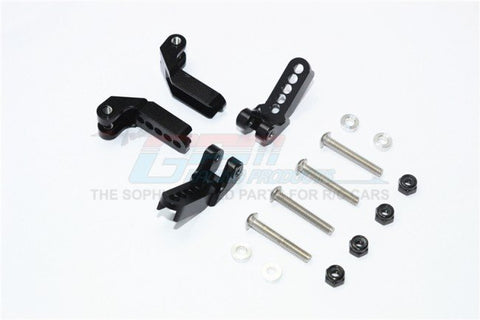 GPM Racing Traxxas TRX-4 Black Aluminum Adjustable F/R Damper Mount Set TRX4029FR-BK