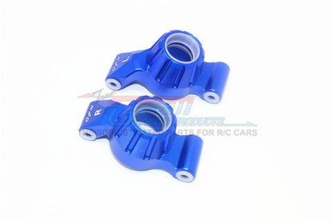 GPM Racing Traxxas Maxx Blue Aluminum Rear Knuckle Arm Set TXMS022-B