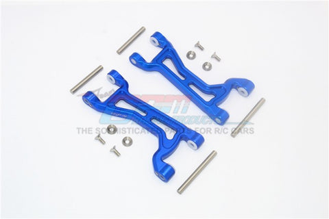 GPM Racing Traxxas Maxx Blue Aluminum Upper Arm Suspension Arm Pair TXMS054F/R-B
