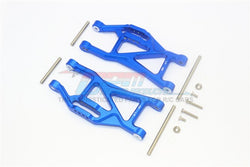 GPM Racing Traxxas Maxx Blue Aluminum Lower Arm Suspension Arm Pair TXMS055F/R-B