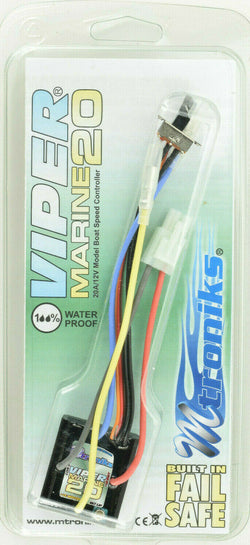 Mtroniks Viper Marine 20 Amp Waterproof Boat ESC Speed Control W/ Fail Safe