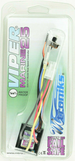 Mtroniks Viper Marine 25 Amp Waterproof Boat ESC Speed Control W/ Fail Safe