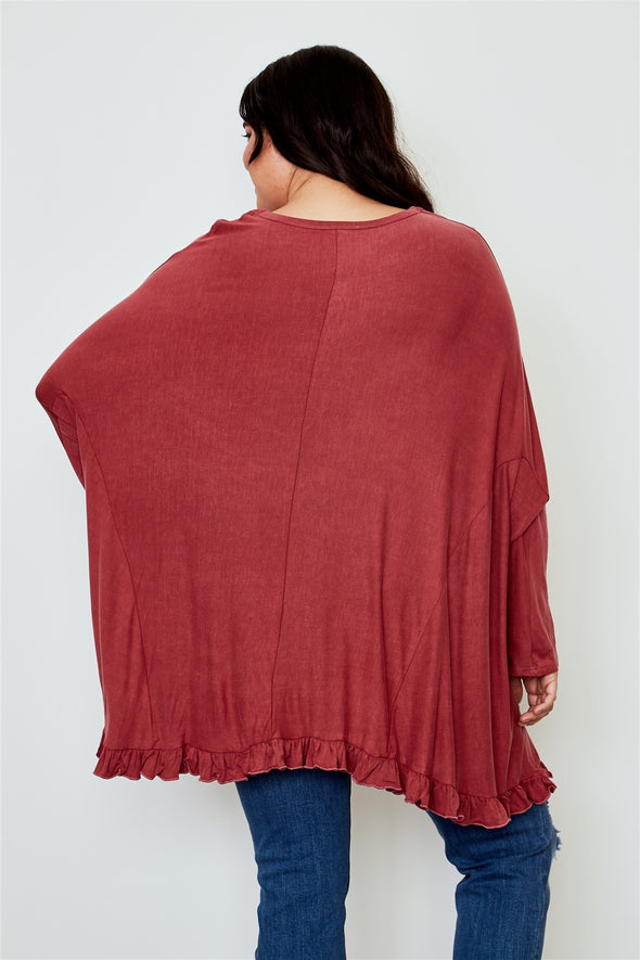 oversized comfy womens top