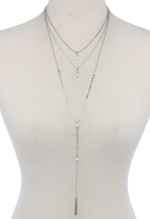 Silver Multi-Layered Necklace