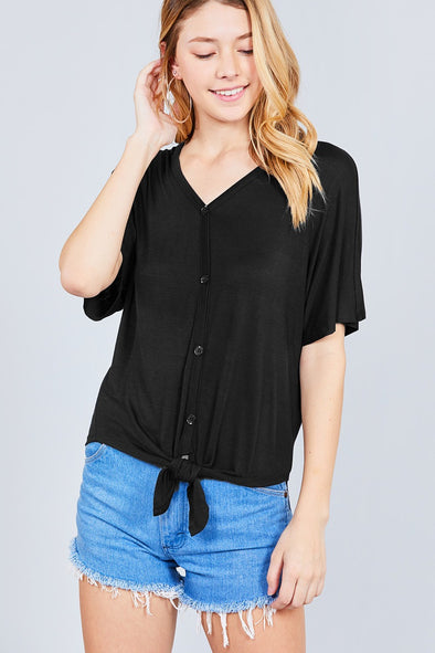 black casual tshirt