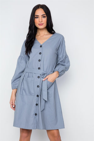 button down dress