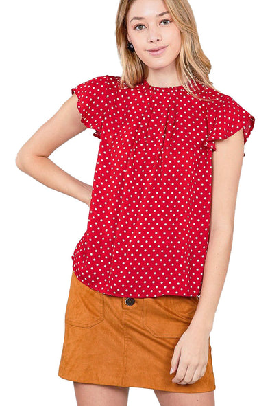 womens polka dot top