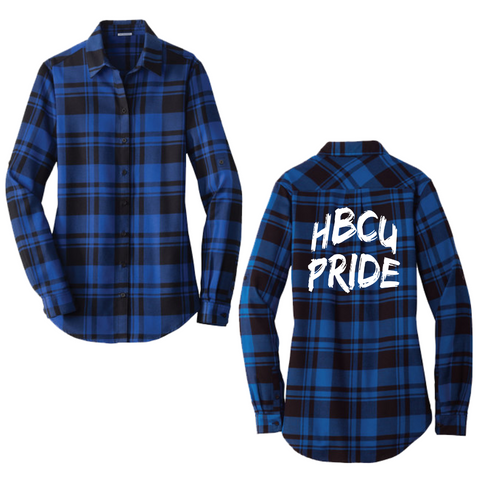 HBCU Pride Flannel Shirt (Womens)