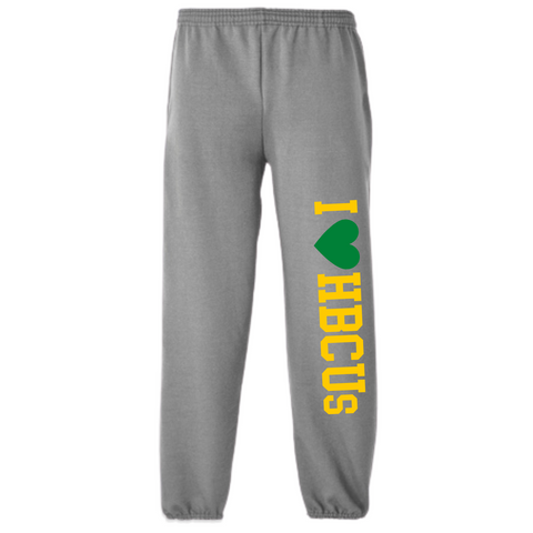 green and gold i love you sweatpants