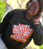 HBCU Friends Crop Sweatshirt
