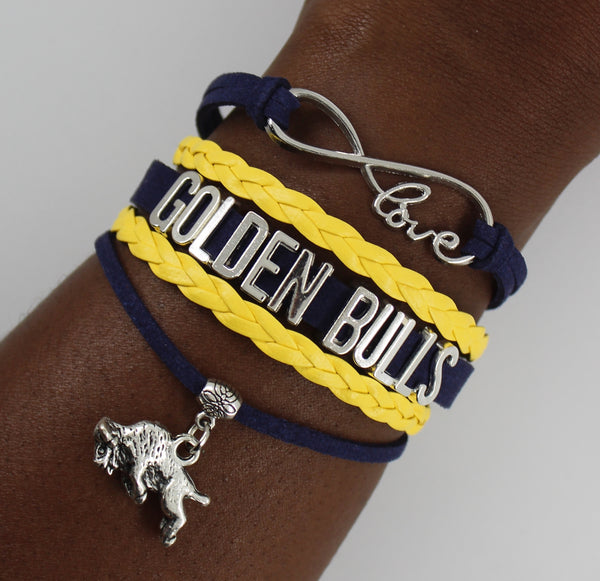 Johnson C. Smith University Golden Bulls HBCU bracelet
