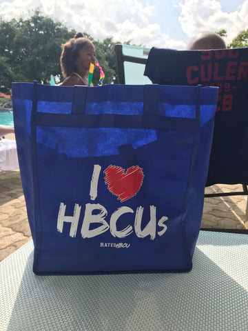 i love hbcu grocery reusable tote bag