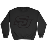 southern university subr black on black flock sweatshirt