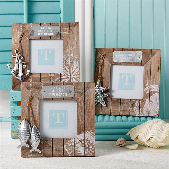Two's Company Aquatic Photo Frames, 4