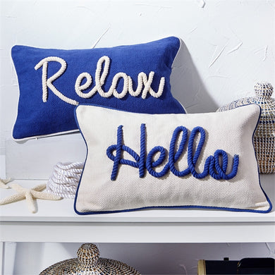 Two's Company Blue & White Nautical Pillows