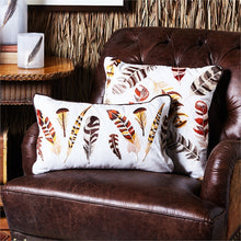 Two's Company Hand-Embroidered Feather Pillow