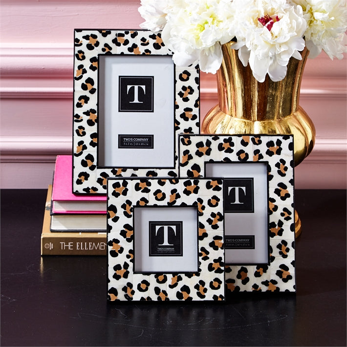 Two's Company Leopard Photo Frames