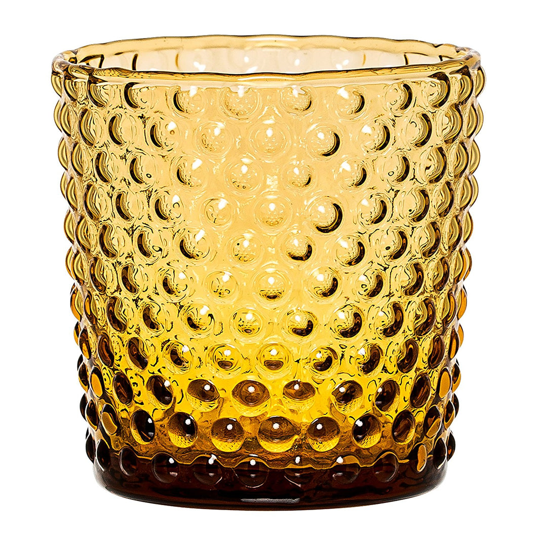 Bloomingville Hobnail Votive Candle Holder, Amber