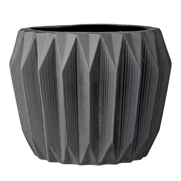 Bloomingville Fluted Stoneware Flower Pot