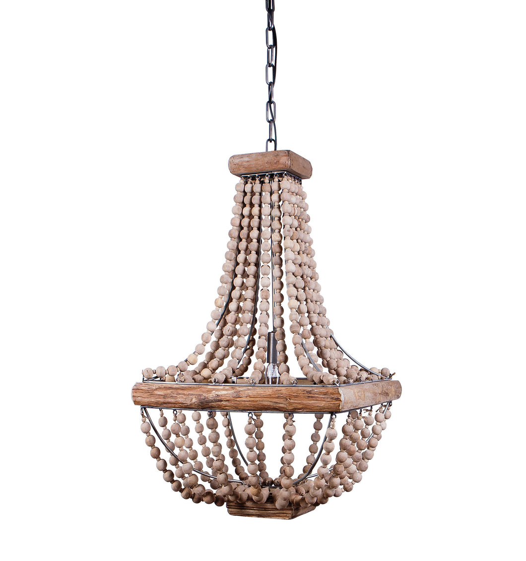 Chandelier with Wood Bead Draping (DS)