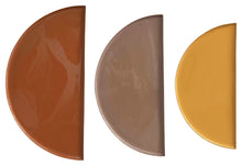 Enameled Metal Half-Circle Trays, 3pc. Set (DS)