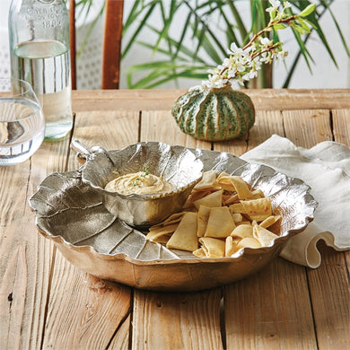 Two's Company Tozai Home Grape Leaf Chip & Dip Set