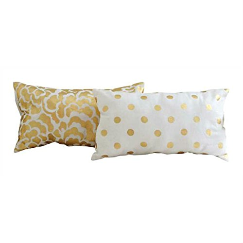 Creative Co-Op Gold Pillow