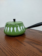 Vintage Cathrineholm Green Fondue Pot and Lid