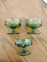Vintage Small Green Glass Compote