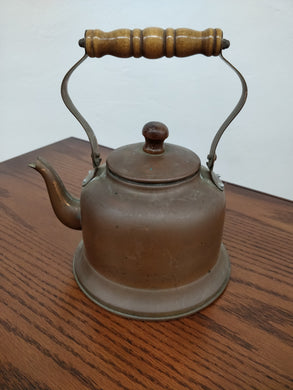 Vintage Copper Tea kettle w/Wood Handle
