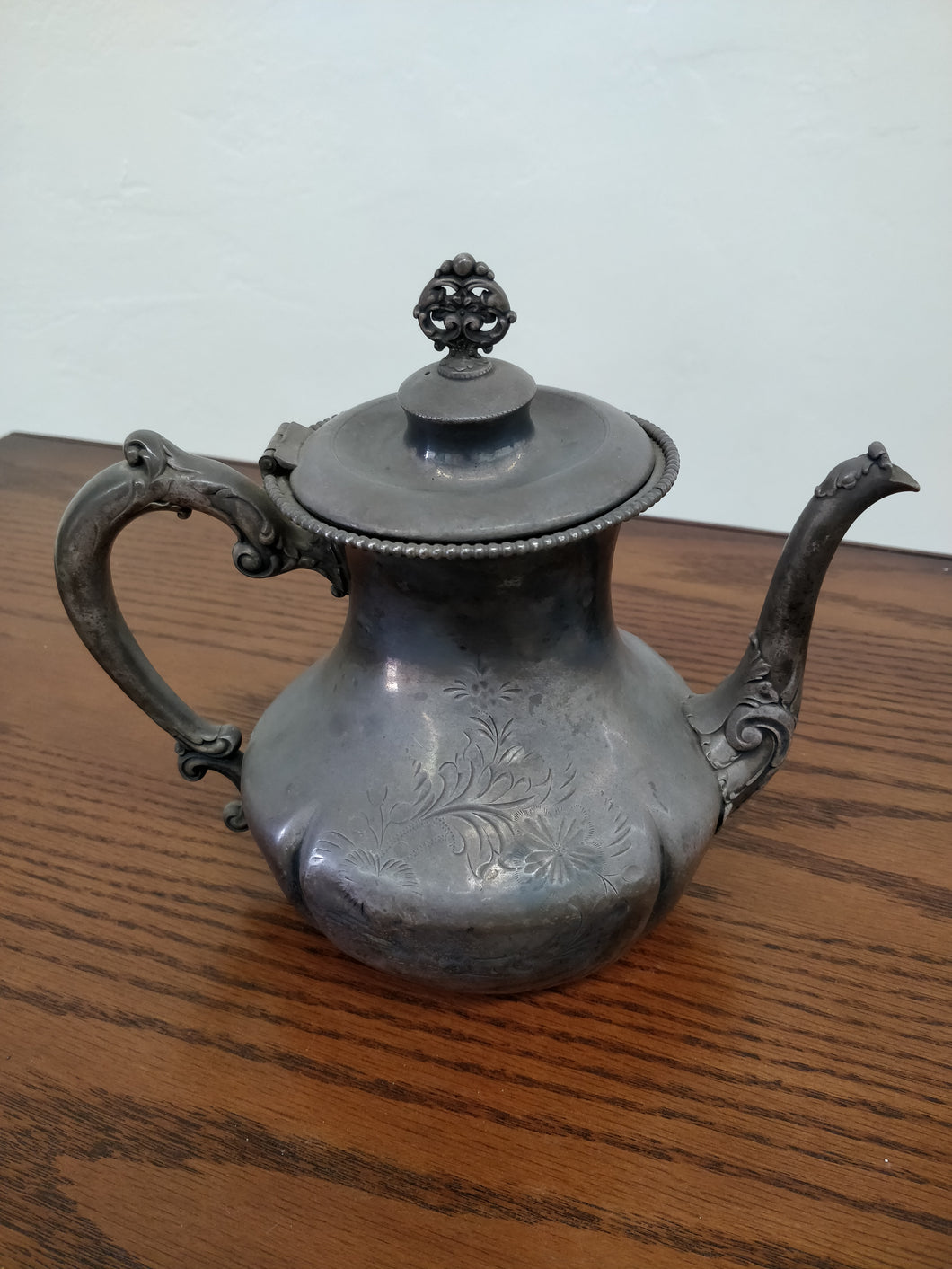 Vintage Pewter Tea Pot