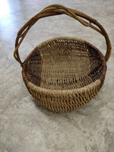 Vintage Over-sized Woven Basket with Cane Handle