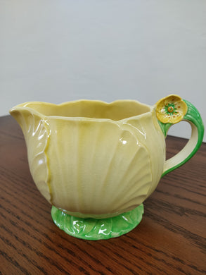 Vintage Carlton Ware Yellow Flower Shaped Creamer