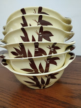 Vintage Weil Ware Hand Decorated Bamboo Bowl