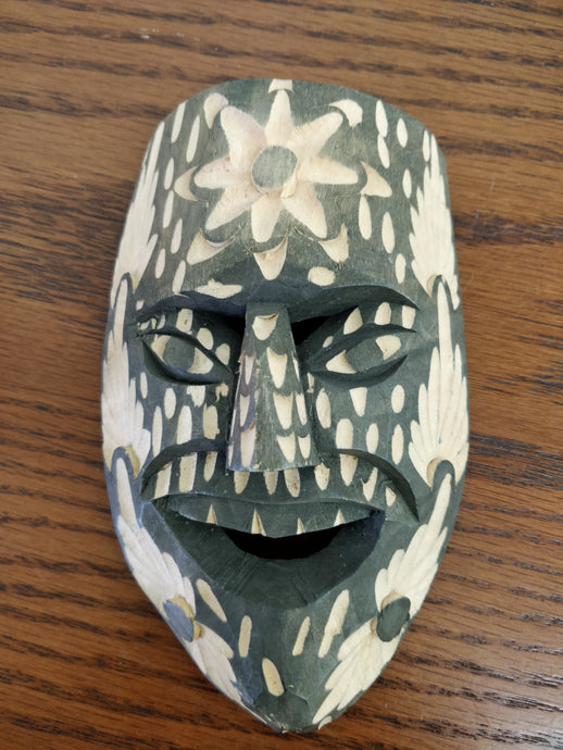Vintage Hand Carved Face Mask