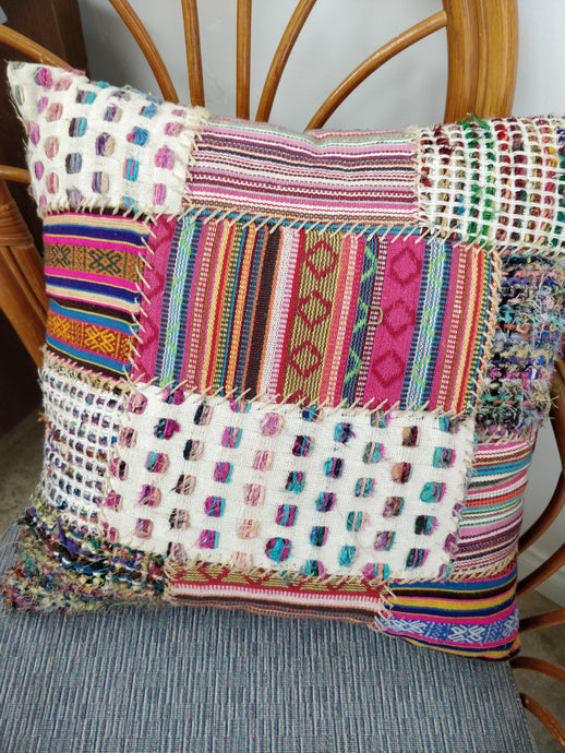 Vintage Boho Patchwork Pillow
