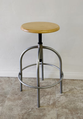 Vintage Dayton Hudson Corp. Industrial Metal & Wood Bar Stool