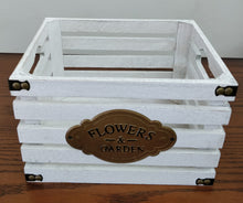 """Flowers and Garden"" Wood Crate"
