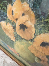 "Vintage Max Streckenbach ""Poppies"" Print in Ornate Frame"