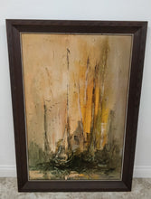 "Vintage Danny Garcia Large Framed ""Tall Masts"" Wall Art"