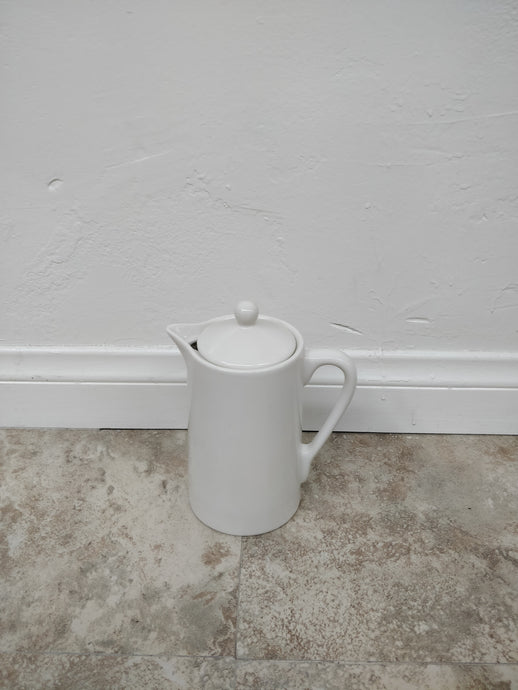 Vintage Oneida White Ceramic Coffee Pot