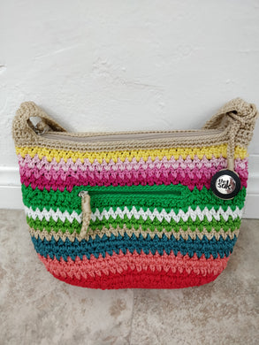 Vintage The Sak Boho Beach Stripe Handbag