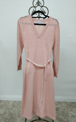 Vintage Joni Blair Peach Sweater Dress