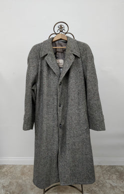 Vintage Men's Harris Tweed Wool Coat